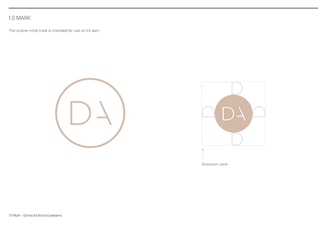 Donna Air branding - The Mark
