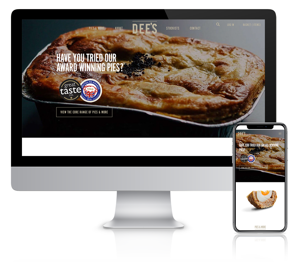 Dees Pies Desktop & Mobile