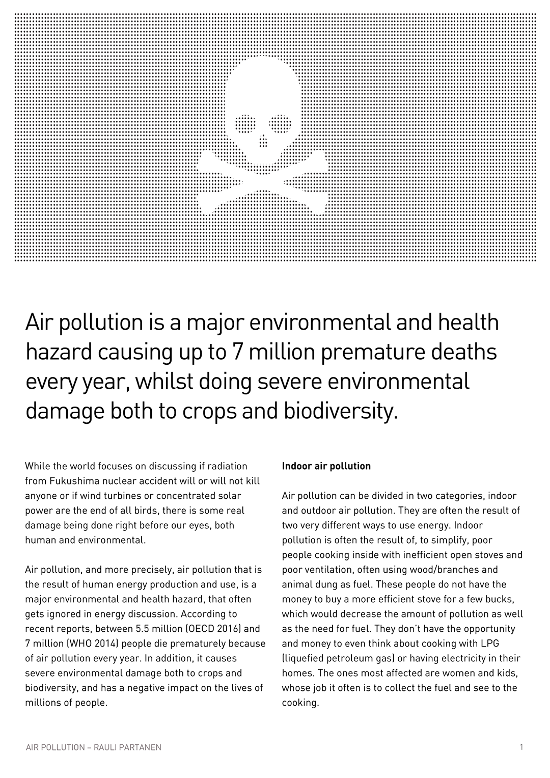 EFH Air Pollution Briefing