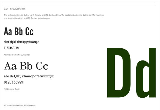 Dee's Pies Branding Guidelines – Typography