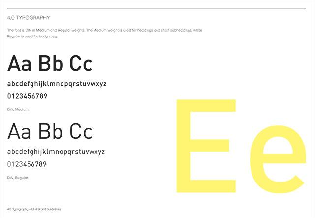 EFH Branding – Typography
