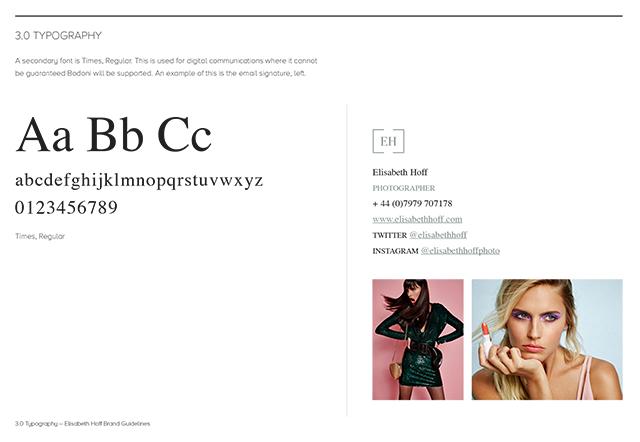 Elisabeth Hoff Branding – Typography