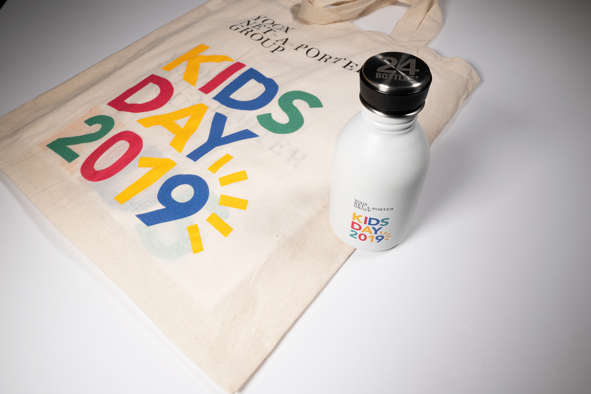 Branded drink bottle from the Kids Day Goody bag