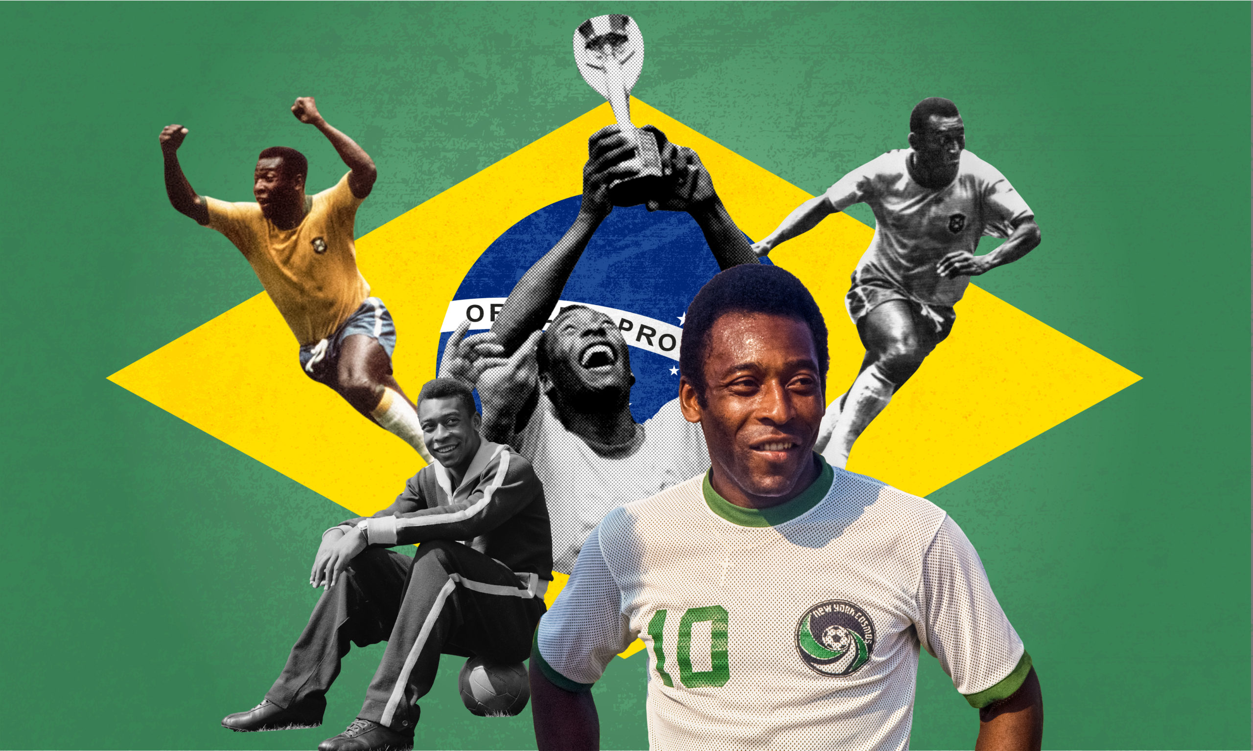 Pele composite image for The Guardian